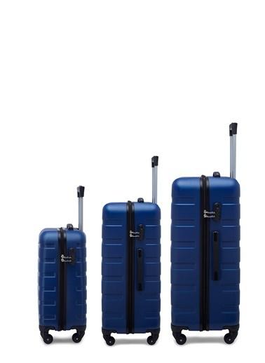 Buratti Buratti 3'Lü Unisex Valiz Set 533TITANIC Mavi